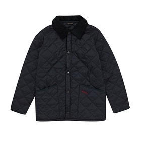 Barbour Liddesdale Quilted Short Boys Jacket - Navy