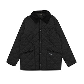 Barbour Liddesdale Quilted Short Boys Jacket - Black