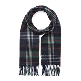 Country Attire Made In Scotland Scarf - Green Navy Check