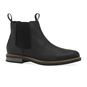 Barbour Farsley Chelsea Mens Boots - Black Nubuck