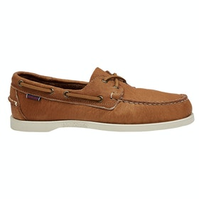 Sapatos de Dormir Sebago Dockside Portland Tumb Matte - Brown Tan