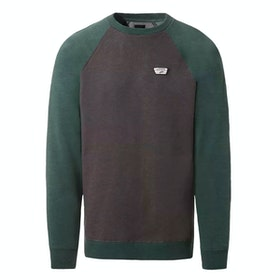 Vans Rutland III Sweater - Asphalt Heather Vans Trekking Green Heather