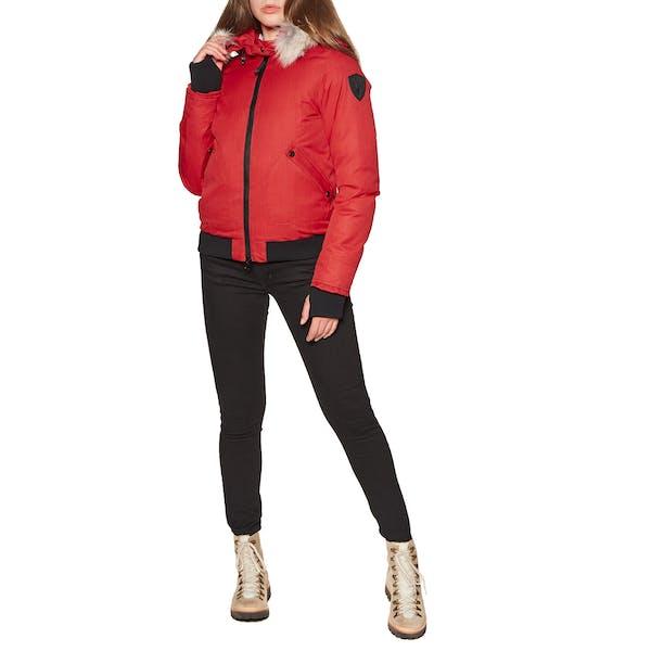 Nobis Harlow Bomber Style with Fur Trim Women's Jacket