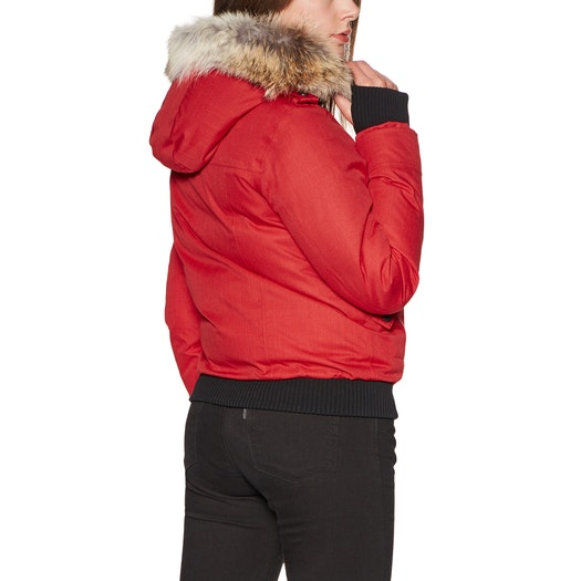 Nobis Harlow Bomber Style with Fur Trim Jakke