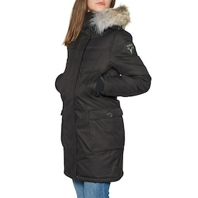 Куртка Женщины Nobis Abby Crosshatch with Fur Trim - Black