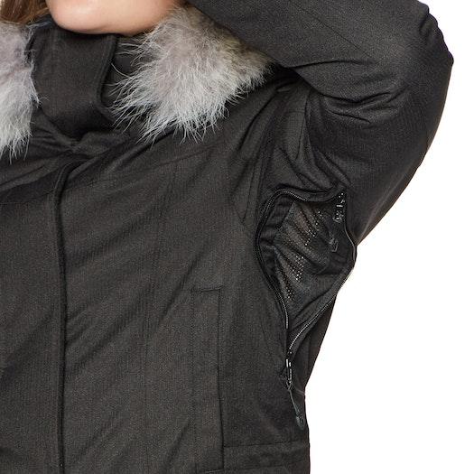 Blusão Nobis Abby Crosshatch with Fur Trim