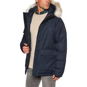 Nobis Heritage Fur Trim Jacket - Navy