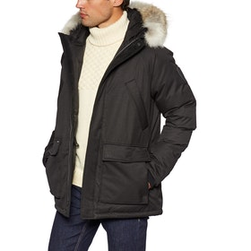 Nobis Heritage Fur Trim Jacket - Black