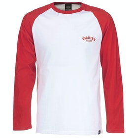 Dickies Baseball Long Sleeve T-Shirt - Fiery Red