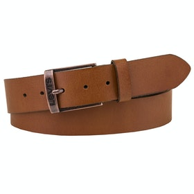 Levi's New Duncan Leather Belt - Medium Brown