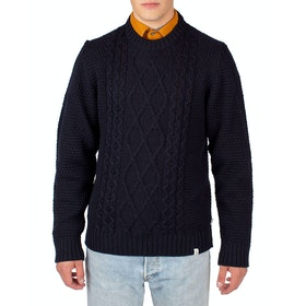 Peregrine Made In England Picton Crew Sweater - Navy