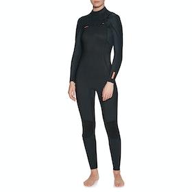 O'Neill Hyperfreak 4/3 + Chest Zip Womens Wetsuit - Black Black