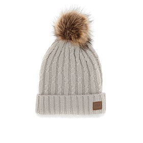Animal Becki Knitted Womens Beanie - Ashes Of Roses Grey