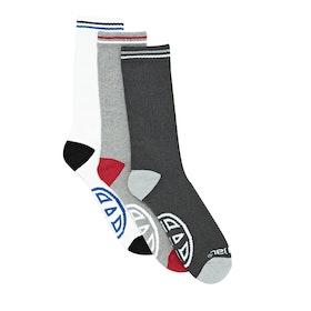 Animal Strobe 3 Pack Socks - Assorted