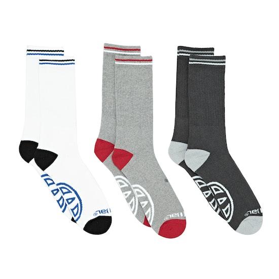 Animal Strobe 3 Pack Socks