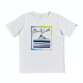 T-Shirt a Manica Corta Quiksilver Tail Fin - White
