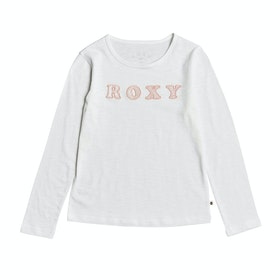 Roxy Bananas Party Girls Long Sleeve T-Shirt - Snow White