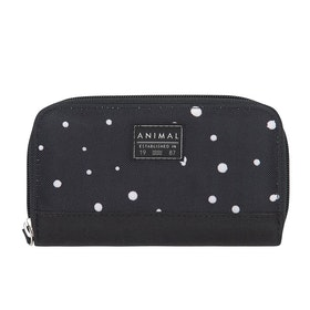 Animal Changing Waves Zip Womens Purse - Black