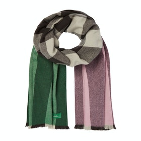 Joules Berkley Womens Scarf - Pink Green Check