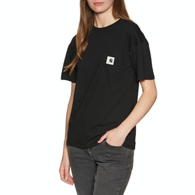 Carhartt Carrie Pocket Damen Kurzarm-T-Shirt - Black / Grey Heather