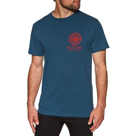 Deus Ex Machina Biarritz Address T Shirt - Mid Blue