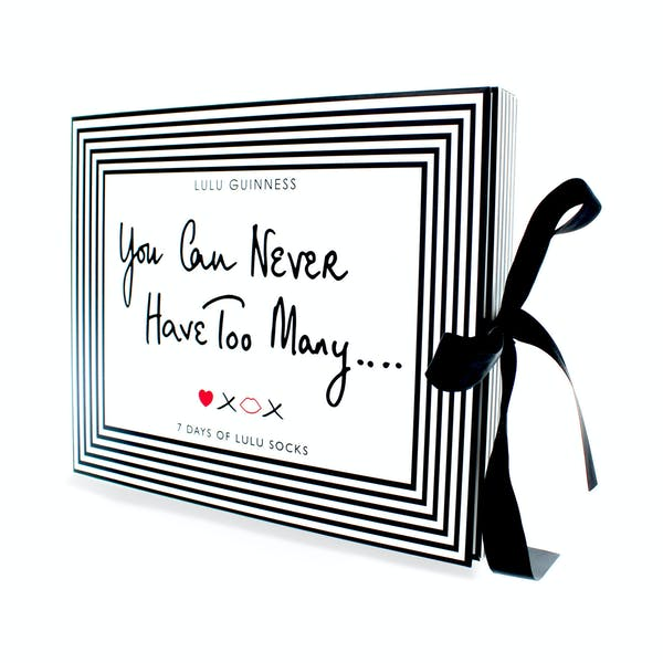 Lulu Guinness 7 Pack Print Gift Set Women's Socks