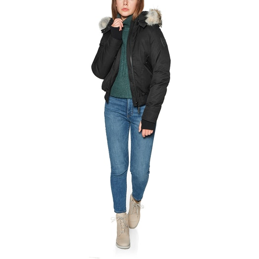 Nobis Harlow Bomber Style with Fur Trim , Jacka