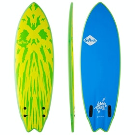 Softech Mason Ho FCS II Twin Surfboard - Lime Yellow