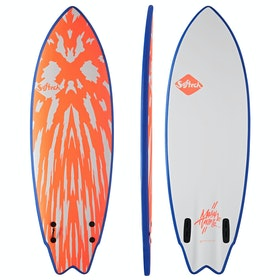 Softech Mason Ho FCS II Twin Surfboard - Neon Red White