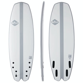 Softech Mystery Box FCS II Quad Surfboard - Grey Stripe