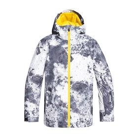 Quiksilver Mission Printed Kids Snow Jacket - Castle Rock Splash