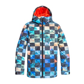 Quiksilver Mission Printed Boys Snow Jacket - Poinciana Ongrid