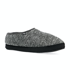 Animal Bollo Mens Shortie Slippers - Asphalt Grey