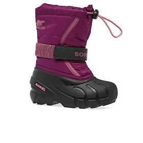 Sorel Childrens Flurry Kids Boots - Deep Blush, Tro