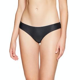 Volcom Simply Solid Cheekin Womens Bikini Bottoms - Black