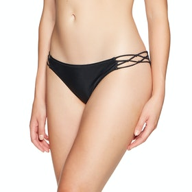 Volcom Simply Solid Full Womens Bikini Bottoms - Black