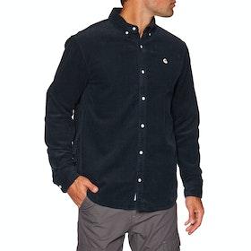 Carhartt Madison Cord Shirt - Dark Navy / White