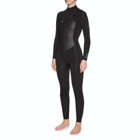 O'Neill Epic 4/3mm Chest Zip Full Womens Wetsuit - Black