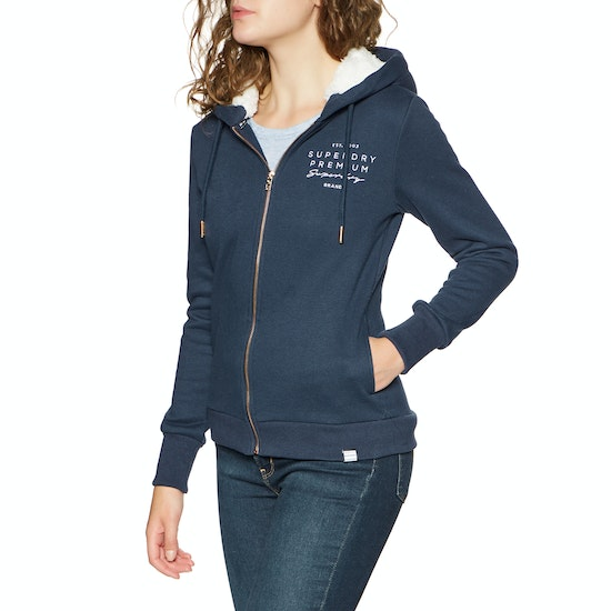 Superdry Applique Womens Zip Hoody
