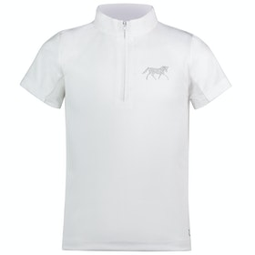 Horze Lena Show Kids Competition Shirt - Optical White