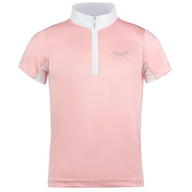 Horze Lena Show Childrens Competition Shirt - Powder Pink