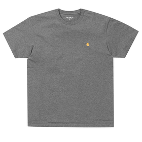 Carhartt Chase 半袖 T シャツ - Dark Grey Heather / Gold