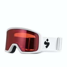 Sweet Firewall Snow Goggles - Satin White ~ Satin Ruby