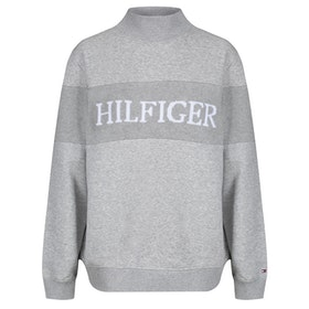 Tommy Hilfiger Laureen Mock Neck Damen Pullover - Light Grey Heather