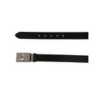 Vivienne Westwood Square Buckle Gun Metal Leather Belt
