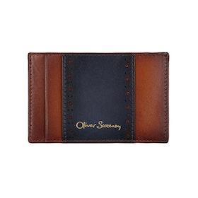 Oliver Sweeney Neston Card Holder - Tan Navy