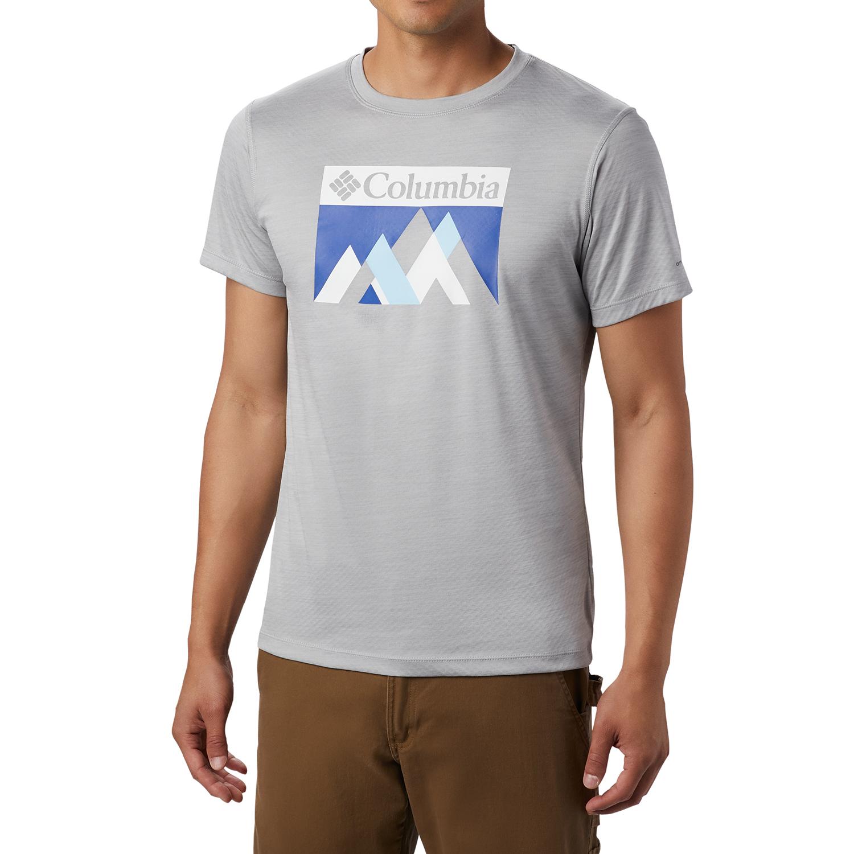 NWT Columbia Men/'s Short Sleeve Mountain Graphic T-Shirt White Large X-Large