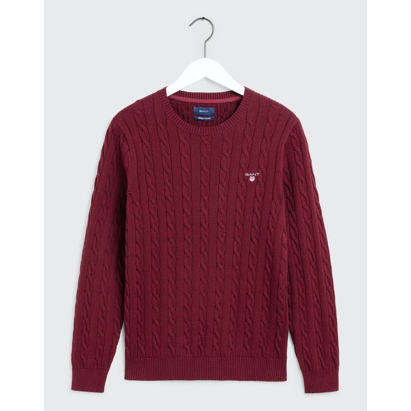 Gant Cotton Cable Crew Knits