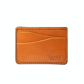 Tanner Journeyman Card Pocket Brieftasche - Saddle Tan