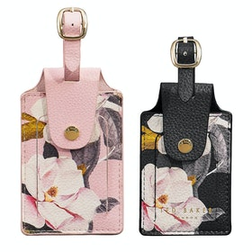 Przywieszka do bagażu Damski Ted Baker Set Of Two Luggage Tags - Opal Pink Black